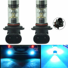 2X 9145 H10 High Power 100W LED 8000K Ice Blue Fog Light Lamps Bulbs