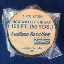 100% Linen 4 Cd Waxed Thread. 150 Ft (50 Yards) Ludlow Textiles