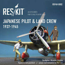Reskit RSF48-0002 Japanese pilot & land crew 1937-1945 (WW2) resin figures 1/48