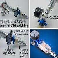 Air Pressure Regulator & In-line Water Trap Filter for Compressor 0-180PSI/12Bar