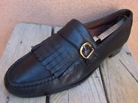 ALLEN EDMONDS Mens Dress Shoes Leather Classic Black Buckle Loafers Size 10.5A