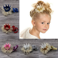 Stylish Baby Girls Crown Princess Hair Clip Lace Pearl Headband Hair Accessories