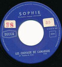 """SOPHIE 45 TOURS 7"""" LES CHEVAUX DE CAMARGUE (AZNAVOUR VASSILIU)"""