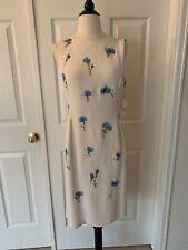 Vintage Oscar de la  Renta Silk Sheath Dress Retail $3.3000