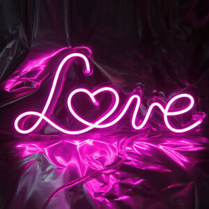 Love LED Neon Sign Live Background Light Party Room Wall Decor Gift with Dimmer