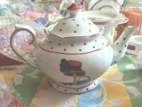 Teapot Red Hat Society Polka Dot 'A Special Place' 2004 Fabulous Unused Full Siz