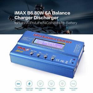 for Lipo/NiMh/NiCd/NiMh/Pb iMAX B6 80W 6A LCD Screen Battery Balance Charger