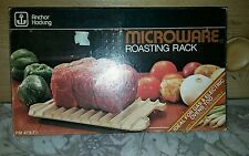 VTG Anchor Hocking Microware Roasting Rack / In Box w/ Instructions, Recipes