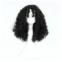 Women Curly Afro Black Wig Mother Gothel Halloween Cosplay Full Wigs + a Cap