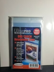 Ultra Pro One-Touch Resealable Bags 35pt to 180pt Cards Pack of 100 Team Bags