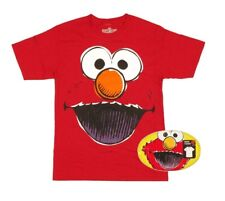 SESAME STREET ELMO RED TEE T-SHIRT WITH COLLECTOR'S TIN SIZE: LARGE BIOWORLD NEW