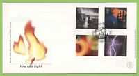G.B. 2000 Fire & Light set on u/a Royal Mail First Day Cover, Victoria Station