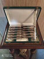 12 Couteaux à Entremets Décor Floral Style Louis XV