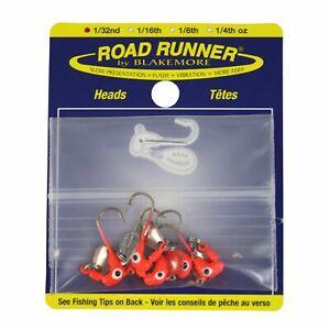 Blakemore TTI Fishing Co Road Runner Bulk Head Hook (Red, 1/32-Ounce)