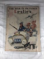 Leslie's Illustrated Weekly Newspaper The War in Pictures January 5th 1918