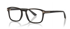 Tom Ford FT 5718-P 064 Light Brown Horn Private Collection Eyeglasses