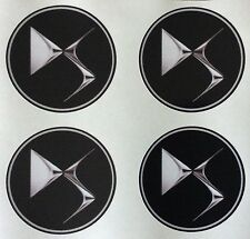 4 x Wheel stickers fits DS citroen 60 mm center badge centre trim cap hub alloy
