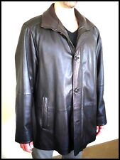 Vintage Leather Luxurious Coat in Chocolate Brown Hand Treated from Bugatti.