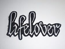 LIFELOVER BLACK METAL IRON ON EMBROIDERED PATCH