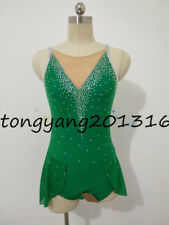 New Green  Ice Skating Dress Girl's Figure Skating Dress for competition