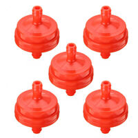 5PCS 1/4'' Red Inline Gas Fuel Filter for 298090 Replacement Garden Tool