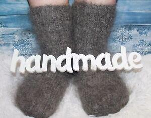 WOMEN's MEN's Socks goat down HANDMADE Furry Mohair angora cashmere unisex