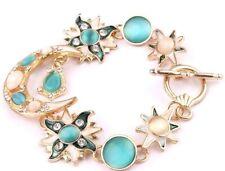 Hot Betsey Johnson Women Jewelry New Moon Star Rhinestone Gift Chain Bracelet
