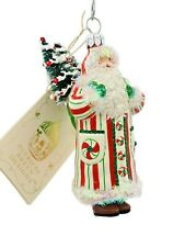 Patricia Breen Whose Woods Are These Peppermints Christmas Tree Holiday Ornament