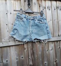 LEVIS Denim Shorts VTG 501s Blue High Waisted Hotpants W28 UK8 - (DP1674)