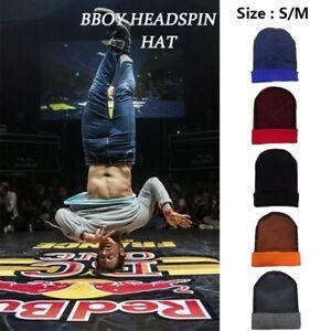 Solid Men BBOY Headspin Break Dance Beanies Spinhead Beanie Knitted Cotton Caps