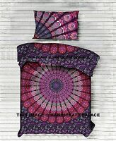 Indian Peacock Mandala Bed Sheet Hippie Bedspread Bedding Set Bohemian Tapestry
