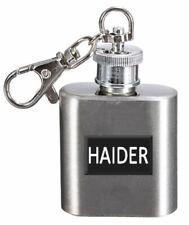 Name Hip Flask 1oz Personalised Keyring 1oz Haider
