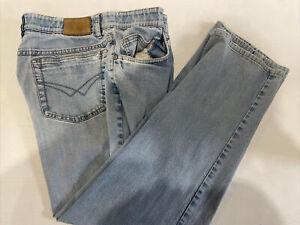 Hiltl Men's Blue Solid Jean Pants 34X27 $135