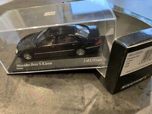Minichamps Mercedes S Klasse 1/43 400036200 Schwarz