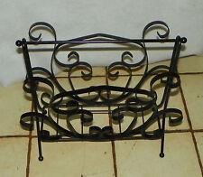 Black Iron Magazine Rack / Magazine Stand  (HD115)