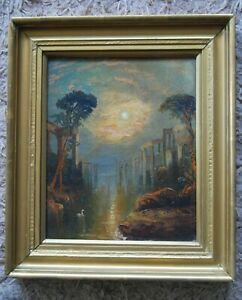 """Late 18th/19th/C Painting """"The Ruins of Ancient Carthage""""  After JMW Turner(137)"""