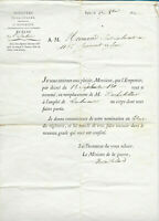 1811 NAPOLEON WAR MINISTER official military order +++ signature ARMY INFANTRY