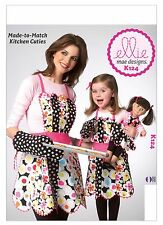 "Kwik Sew SEWING PATTERN K124 Apron & Oven Mitt For Misses,Girls & 18"" Dolls"