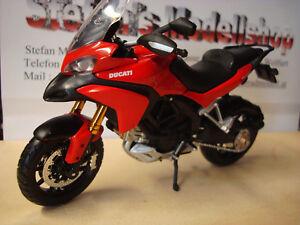 Ducati Multistrada 1200 S Red Rosso - 1:12 Maisto