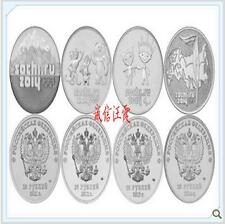 Sochi Winter Olympic 2014 5 pcs Set 俄罗斯 2011-2014年索契冬奥会纪念币 25卢布 4币1章