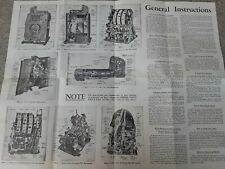 Mills Silents Vintage Slot Machine Service Manual -- Original