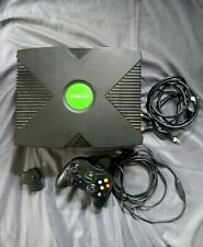 Original Xbox Microsoft Video Game System Console w/ Controller Working