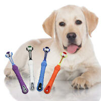 Three Sided Pet Cleaning Brush For Dogs Cats ToothBrush Teeth Care Dog BJQ