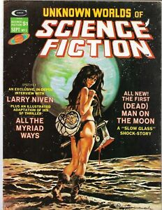 Unknown Worlds of Science Fiction #5 Curtis/Marvel 1975 VG Gray Morrow Art