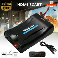 1080P HDMI to SCART Adapter Video Audio Converter USB Cable TV DVD PS3 SkyBox UK