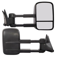 For 88-98 Chevy GMC 1500/2500/3500 Towing Mirrors Manual Side Mirror Truck Pair