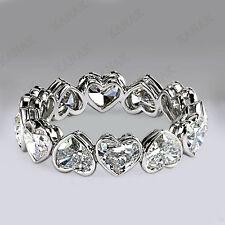 5.00 ct Heart Shape Diamond 10k White Gold Full Eternity Wedding Band Ring