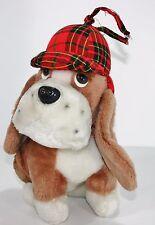 """12"""" Vintage 1978 R Dakin Sherlock Plaid Welpe Hund Stofftier Plüschtier Hund"""