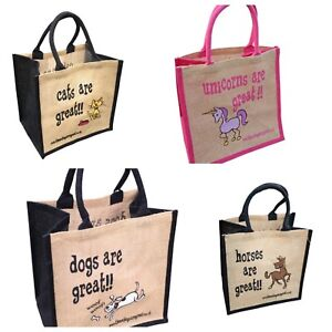 Jute Shopping Bags - PETS from 'These Bags are Great' - Good Size Bag Gift