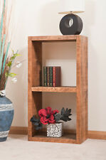 SOLID RUSTIC SAWN PLANK | DOUBLE DISPLAY CUBE | BOOKCASE | HANDMADE